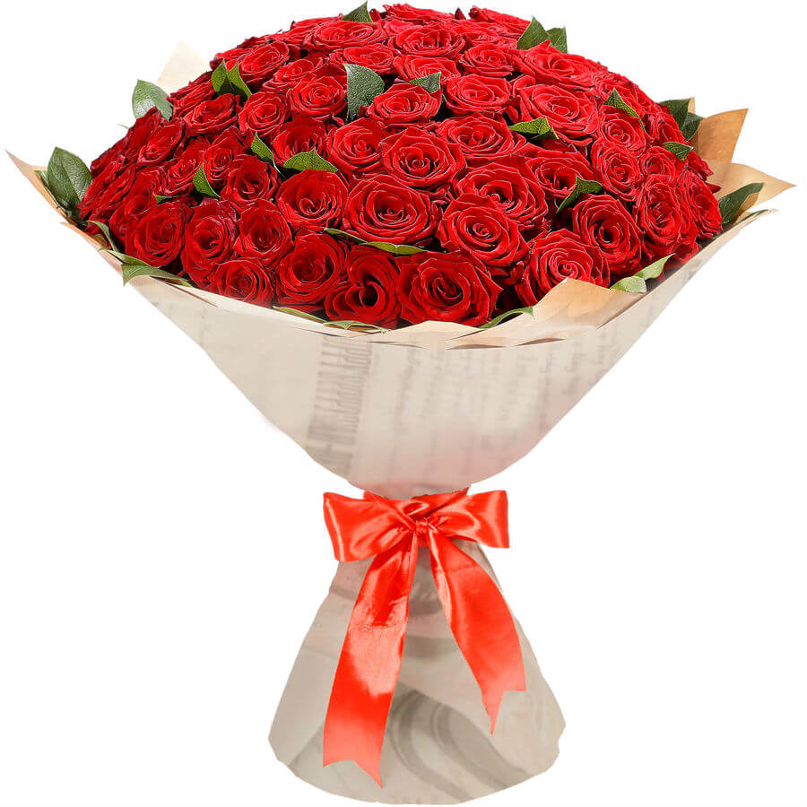 Букет из 101 короткой красной розы доставка в Хмельницком