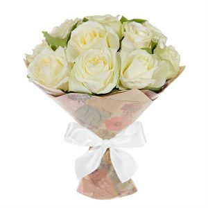 11 белых роз с доставкой по Хмельницкому