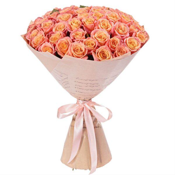 51 персиковая роза купить доставка в Хмельницком