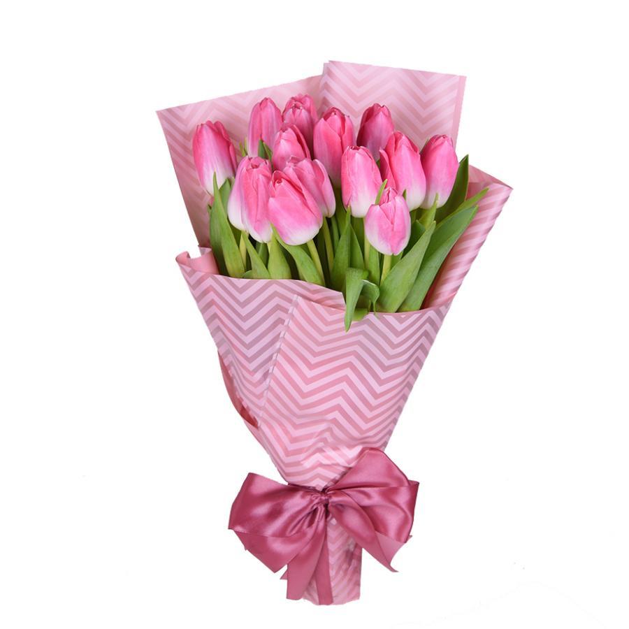 buket-15-rozovih-tulpanov-dostavka-cvetov-hmelnickiy